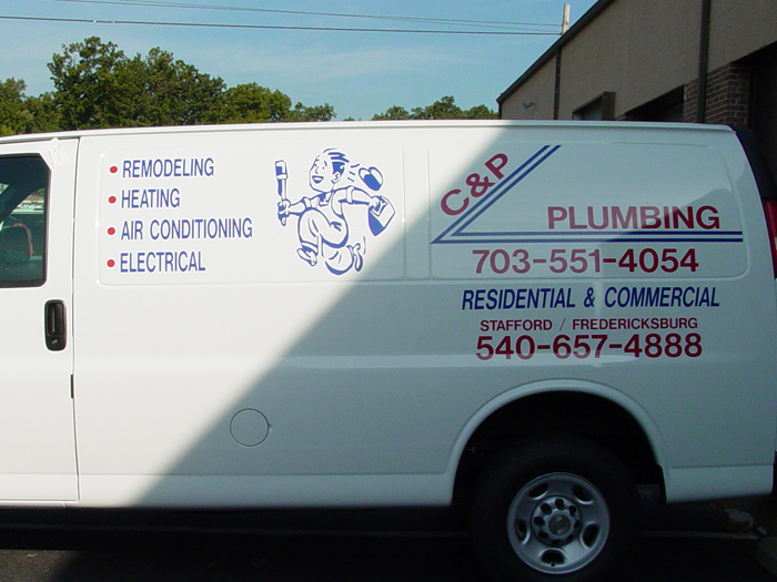 C&P Plumbing Van Graphics