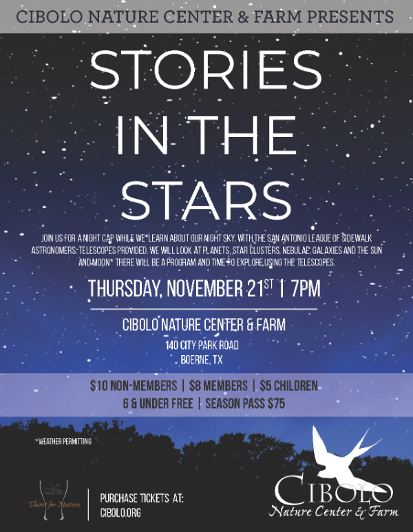 CNC: a Thirst for Nature event: Stories in the Stars