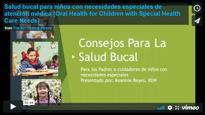 Salud bucal para niños con necesidades especiales de atención médica (Oral Health for Children with Special Health Care Needs - Spanish)