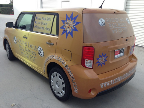 Vehicle Graphics for bail bond companies in Orange County