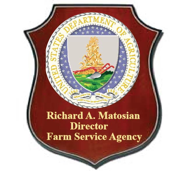 U30215 - Department of Agriculture Personalized Carved Wall Plaque