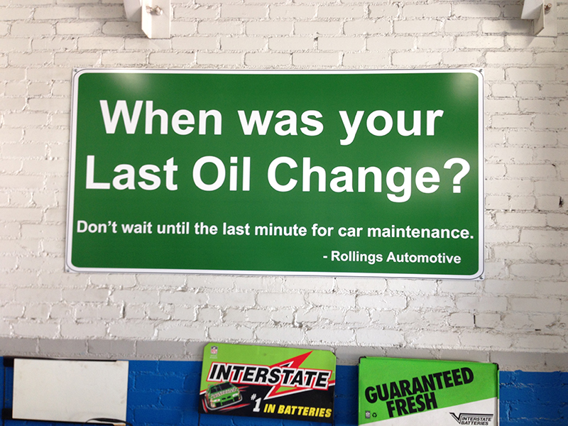 Service Department Signs