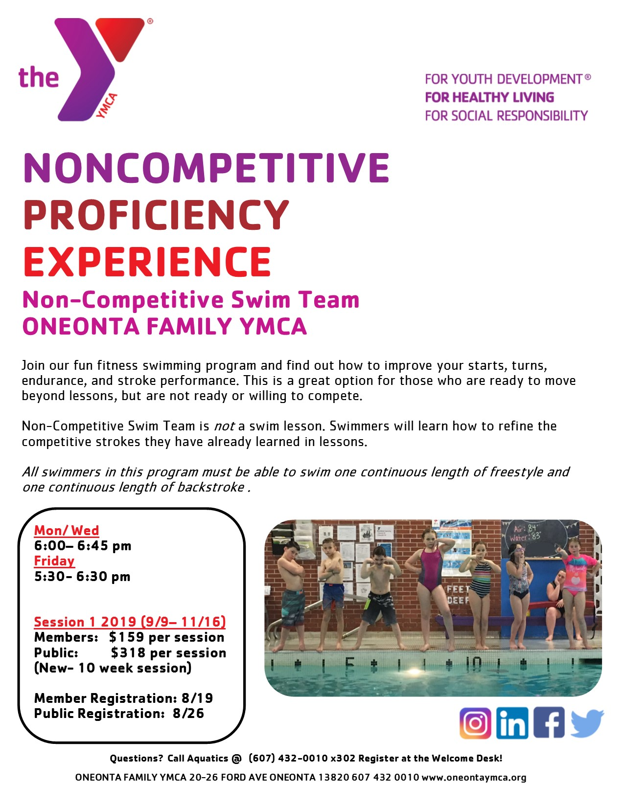 Non-Competitive Swim Team