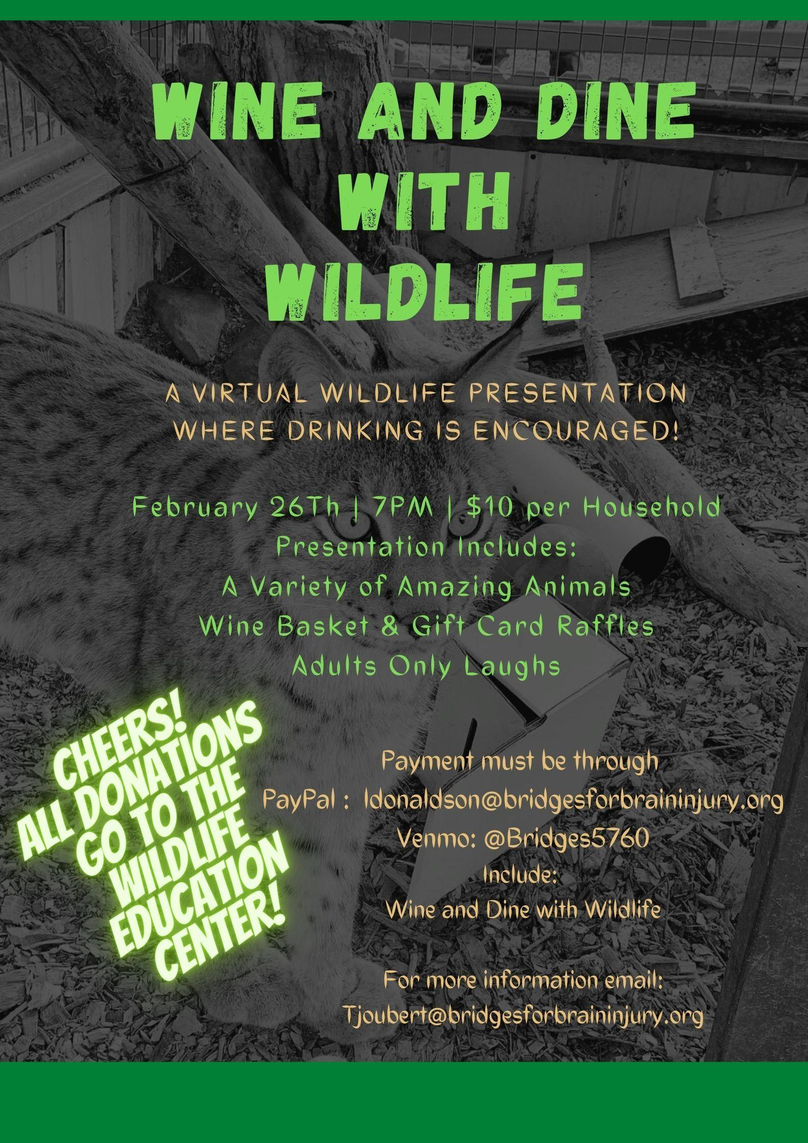 Wine & Dine with Wildlife