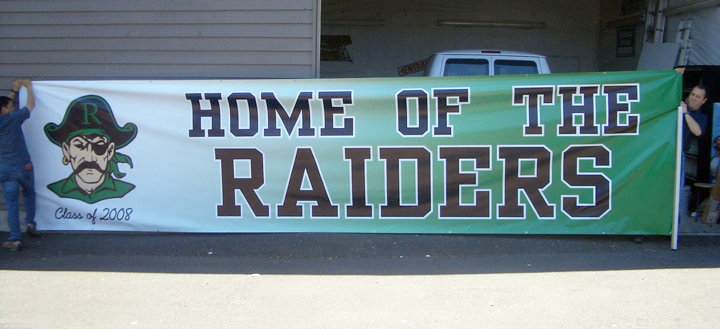Raiders Banner full color digital print
