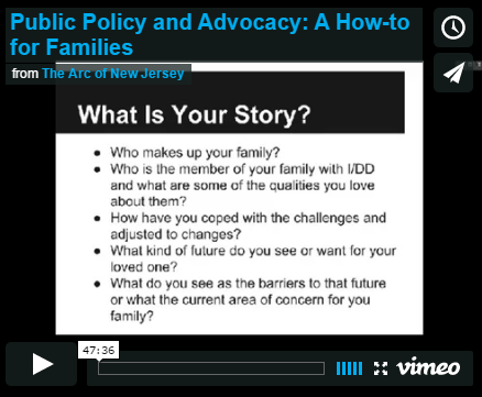 Public Policy and Advocacy: A How-to for Families