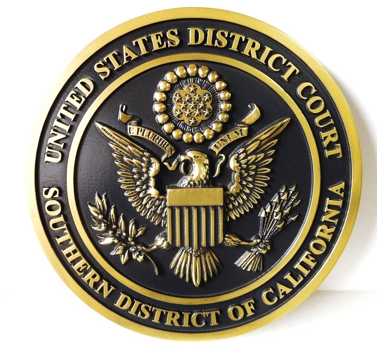 MB2050 - Seal of Federal District Court, 3-D Hand-rubbed