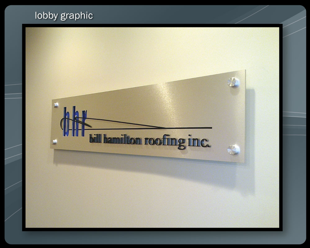 Lobby Signs Etched Glass Corporate Signs Graphics