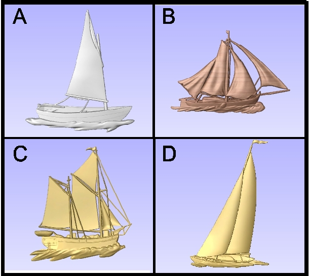 L21905 - Carved Sailboats
