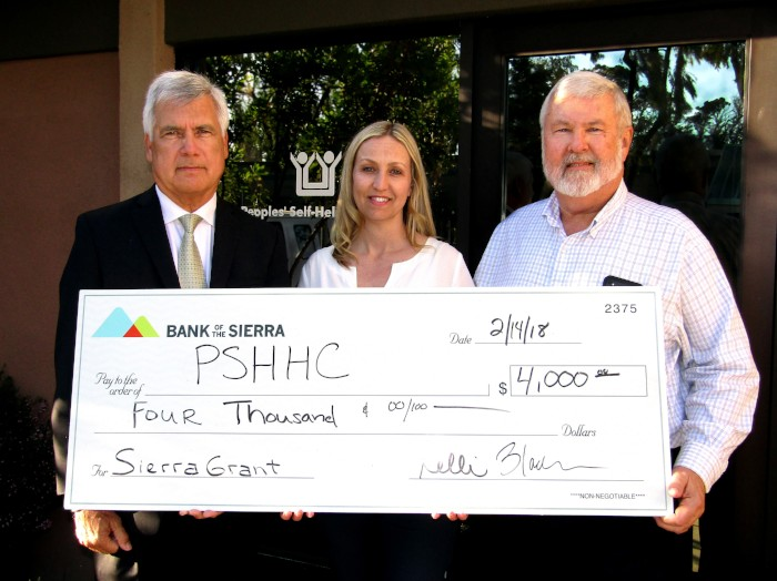 Bank of the Sierra Provides $4,000 Grant for Peoples' Self-Help Housing Educational Programs