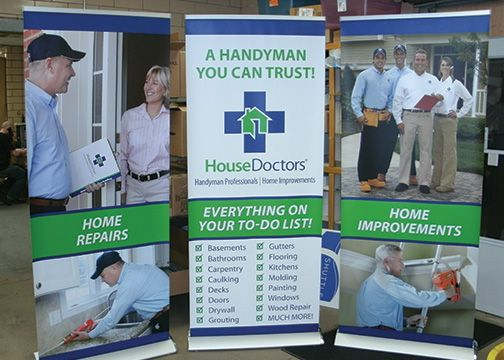House Doctors Banner Stands