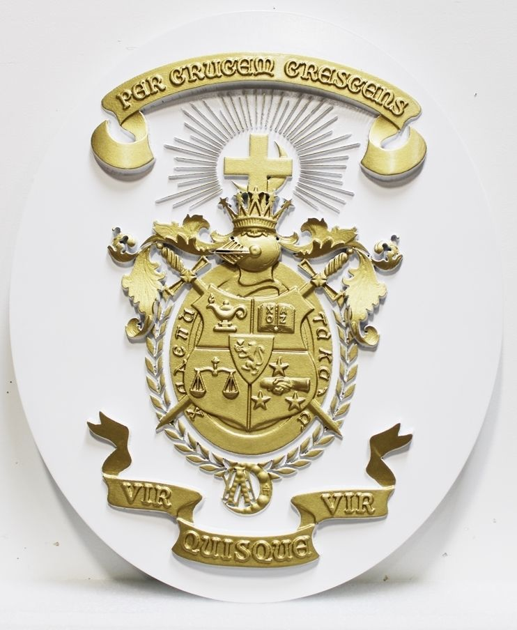 CC7012- Lambda Chi Alpha Fraternity Coat-of-Arms