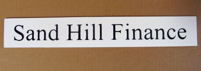 C12233 - Sand Hill Finance High-Density-Urethane (HDU) Sign