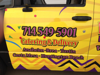 Food delivery vehicle wraps Fullerton CA