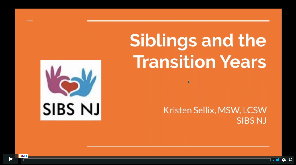 Webinar: Including Brothers & Sisters of Children with Disabilities During the Transition Years