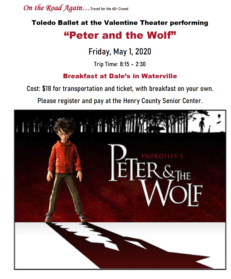"May 1 ""Peter and the Wolf"" Valentine Theater"