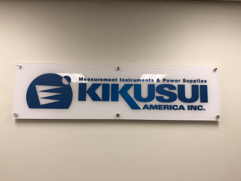 Acrylic panel logo lobby signs in Orange County CA