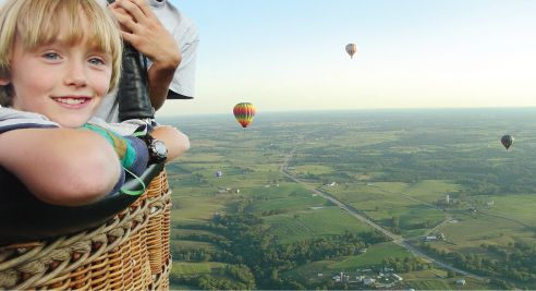 People in Balloon Wide