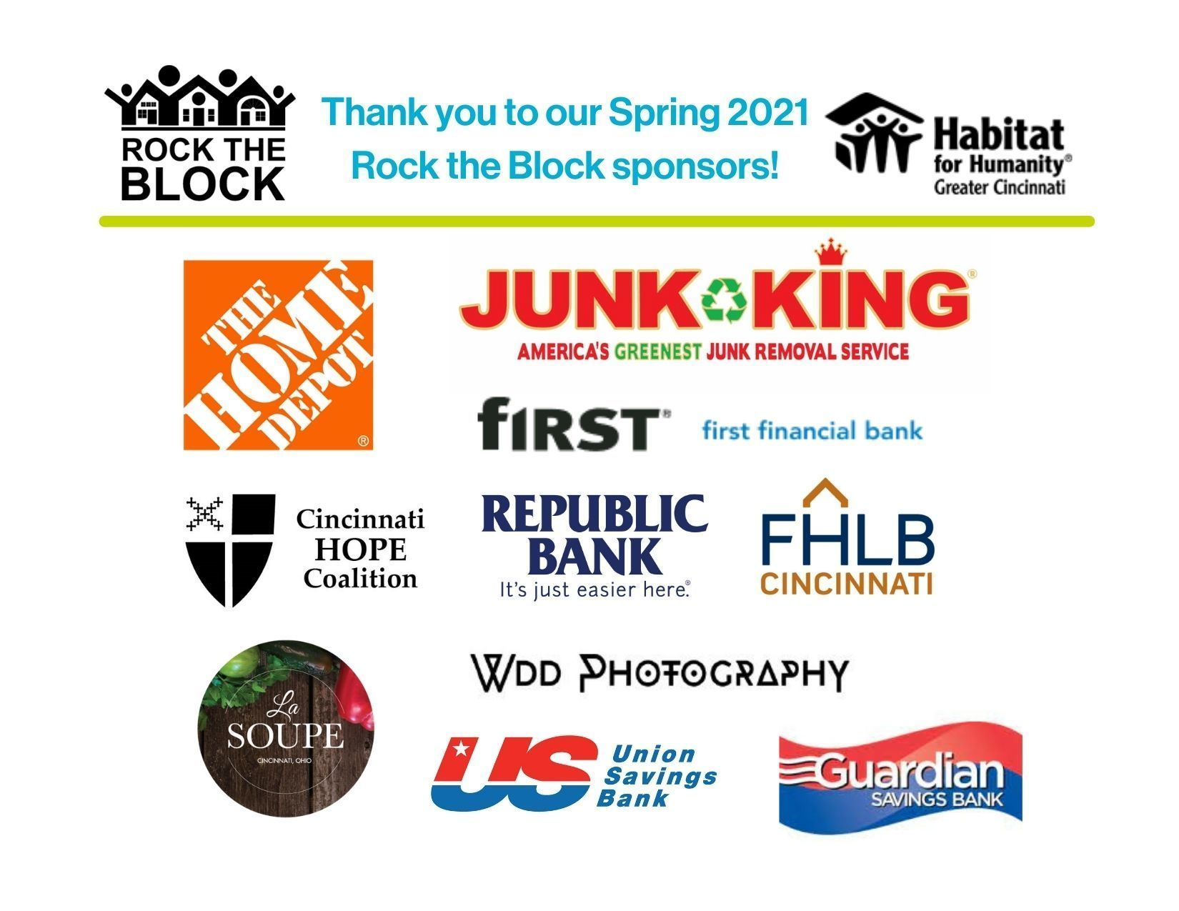 Our Spring 2021 Sponsors