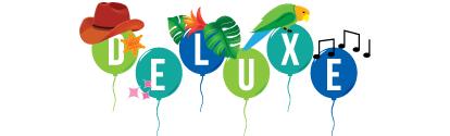 Deluxe birthday party logo