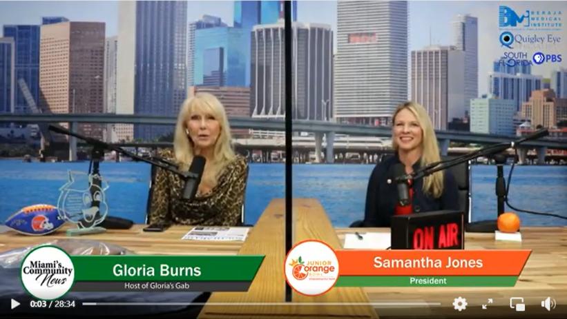 President Samantha Jones is on Gloria's Gab with Gloria Burns