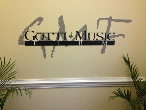 Vinyl wall graphic lobby signs