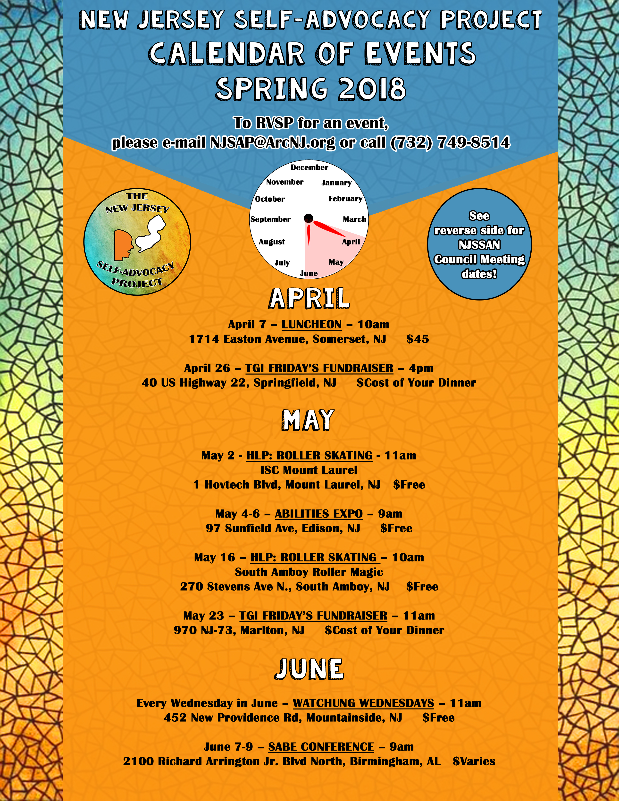 Spring Event Calendar
