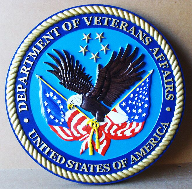 M2006 - Wall Plaque plaque  for the US Department of Veteran's Affairs (Gallery 30)