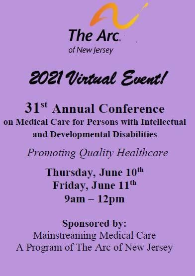 31st Annual Conference on Medical Care for People with Intellectual & Developmental Disabilities