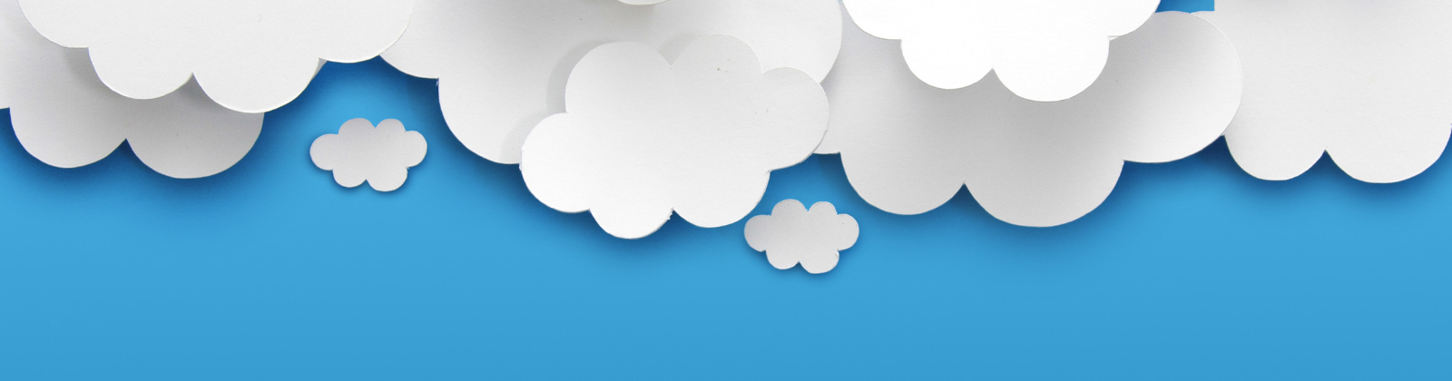 Graphpic image of clouds on a bright blue background