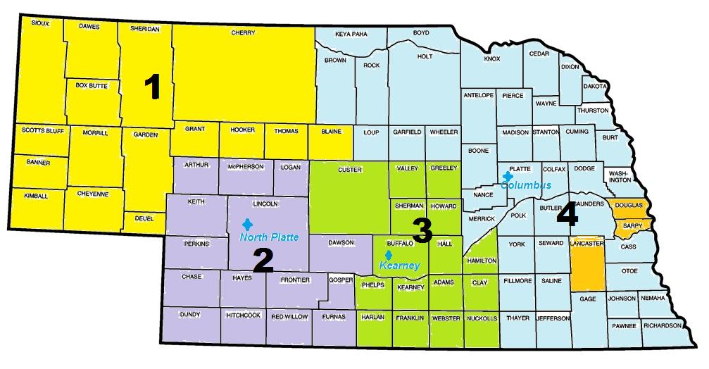 NE Statewide PD Regional Map