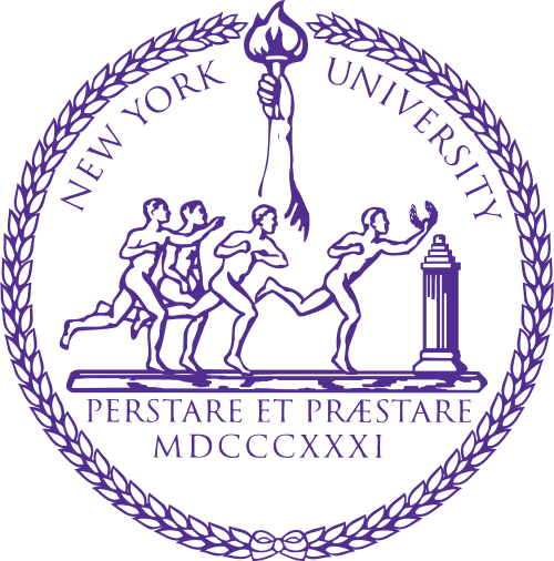 Y34358 - Carved 2.5-D HDU  (Raised Outline) Wall Plaque of the Seal for New York University