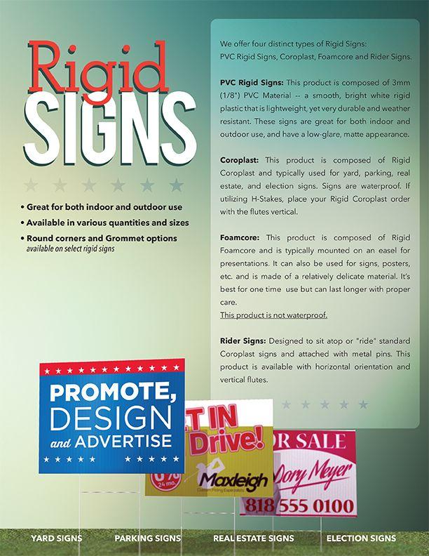 Yard/Rigid Signs