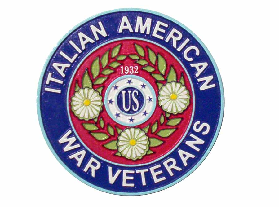 EG505 - Carved 2.5-D  Wall Plaque of the Logo/emblem of the Italian-American War Veterans - Example - $195