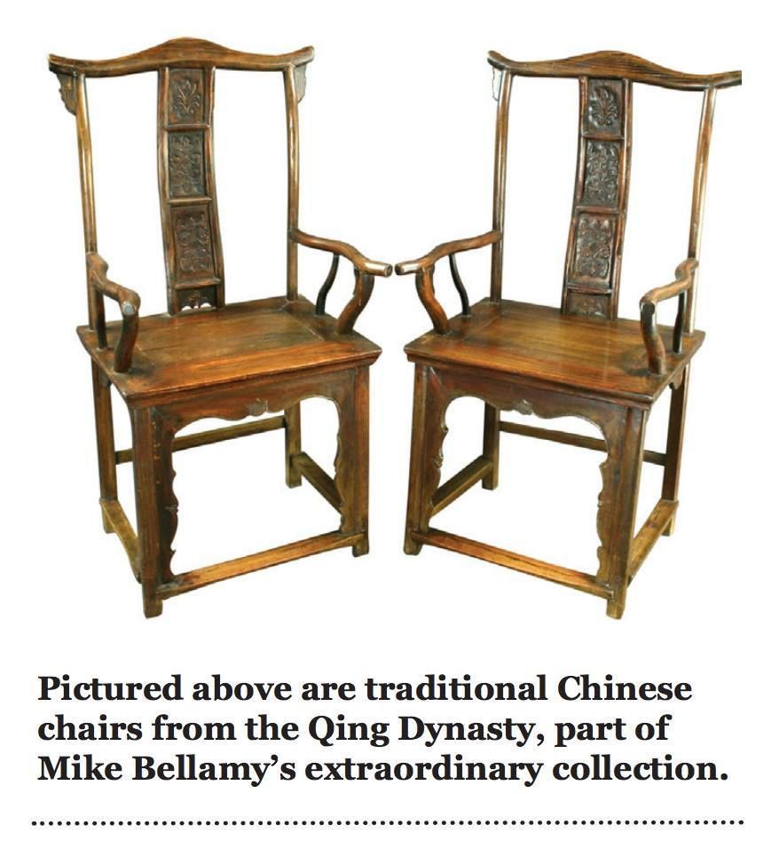 Two Qing Dynasty Chairs; part of Mike Bellamy's Collection to be displayed in our Fortunes and Forgeries exhibit