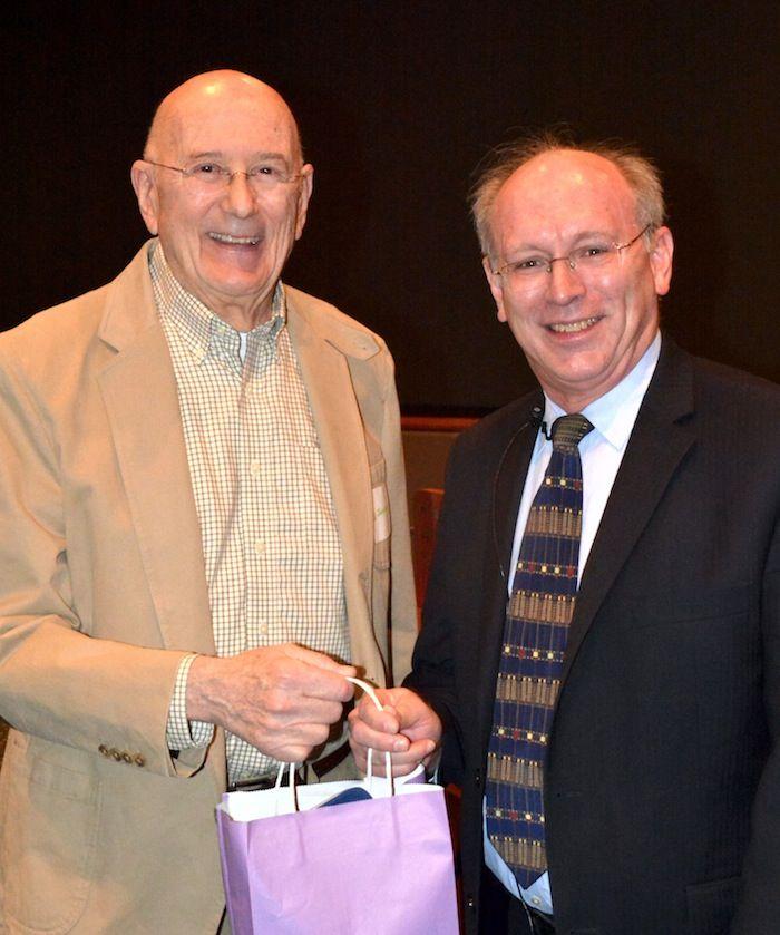 NCMF Treasurer Ed Jacobs with Dr. David J. Sherman