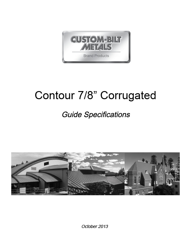 Guide Specs: Contour