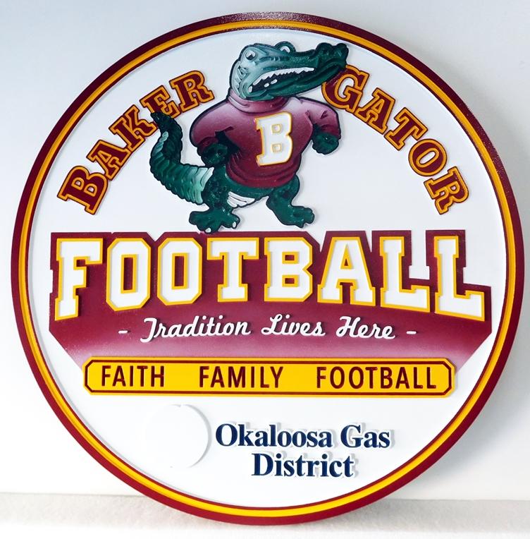 M1666 - Sign for Baker Gator Football (Gallery 35)