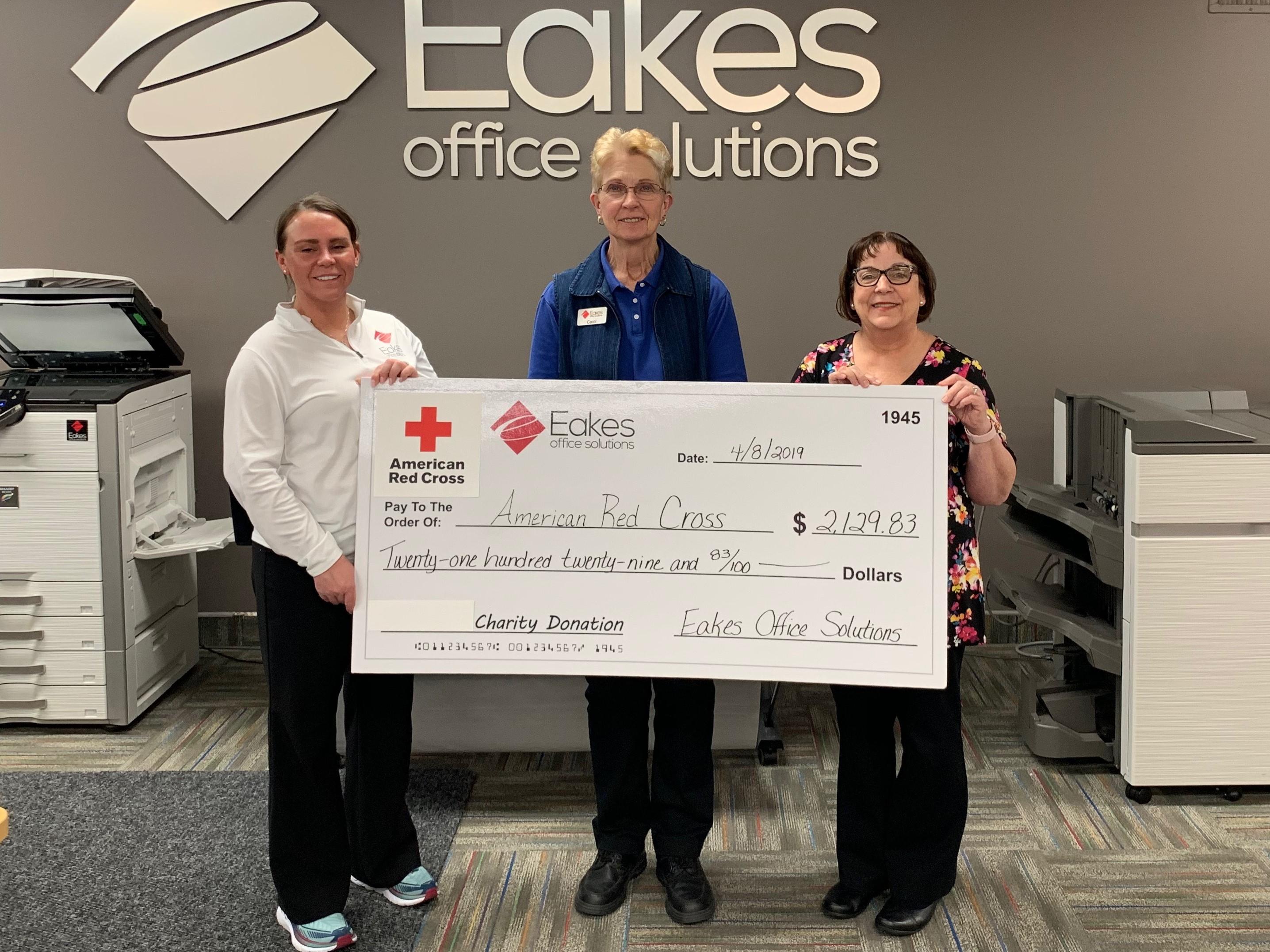 Eakes Donates to American Red Cross of Nebraska