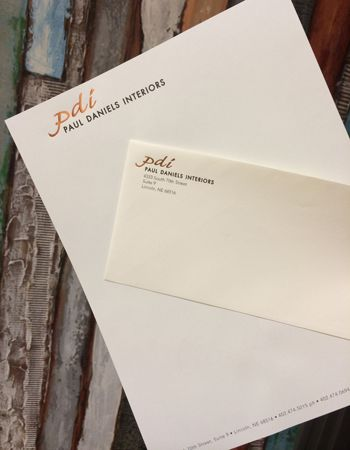 Example of stationery that Colorprint made with its printing services in Burlingame, CA