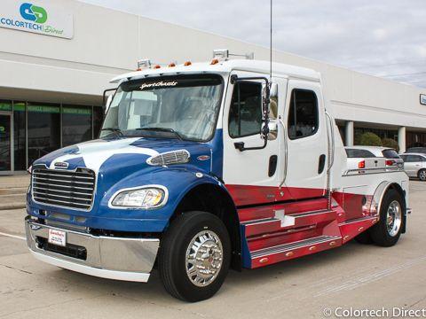 Partial Big Truck Wrap