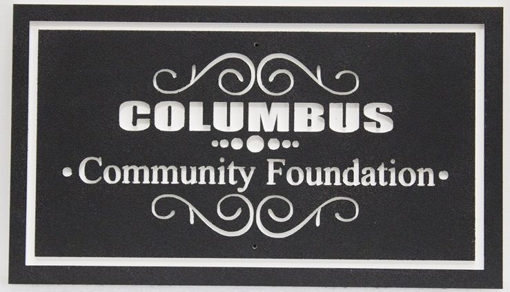 S28195 - Carved 2.5-D HDU Sign for the Columbus Community Foundation