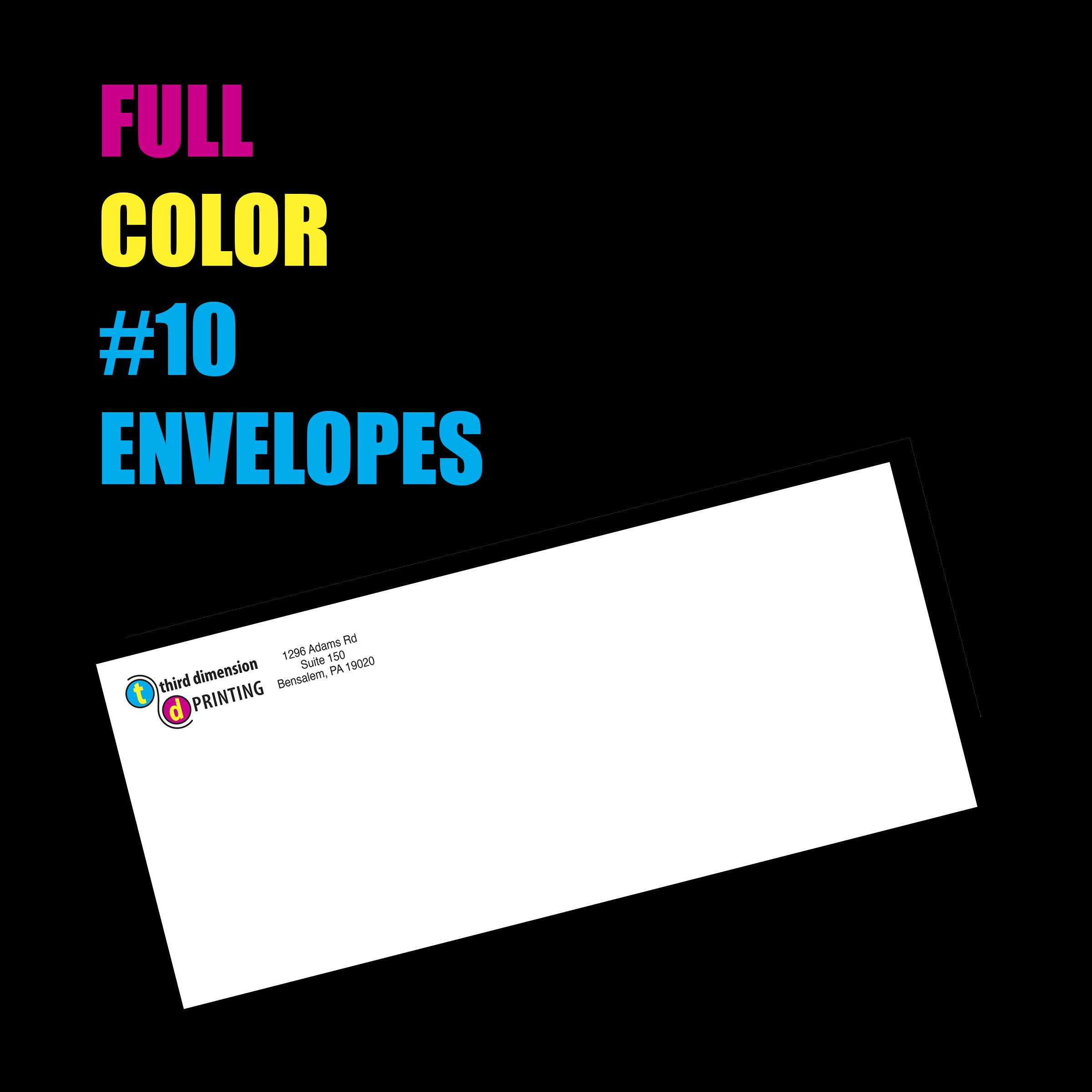 Full Color #10 Business Envelopes