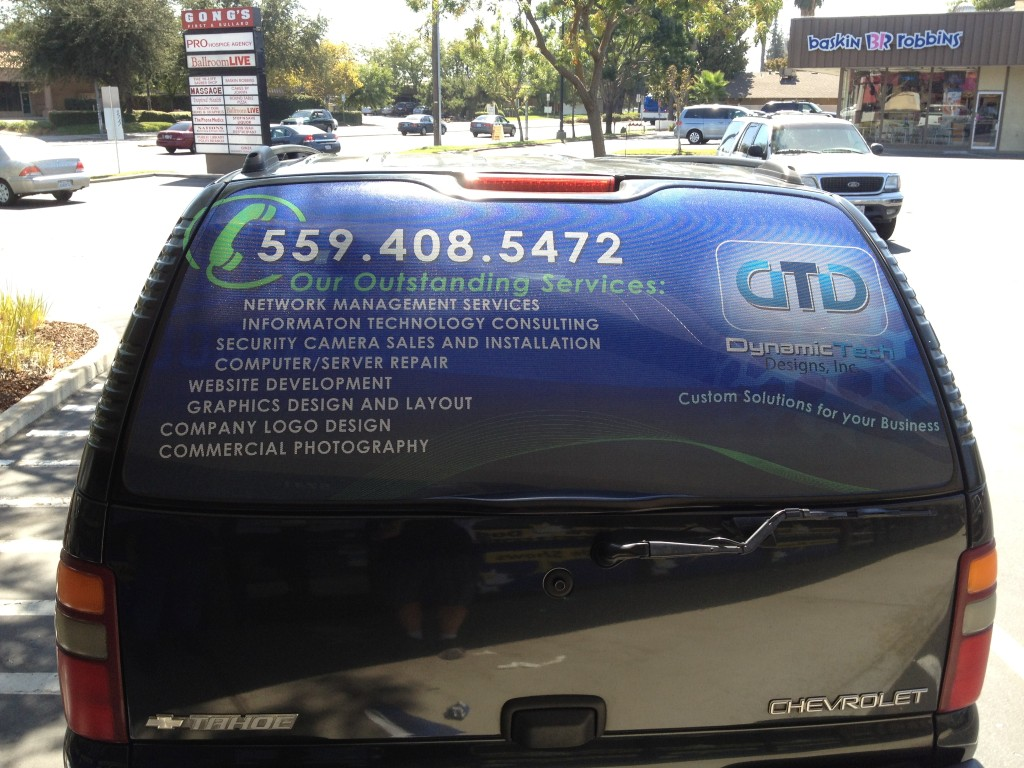 Full Color Perforated Vinyl