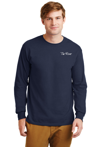 G240 Gildan Adult Ultra Cotton® 6 oz. Long-Sleeve T-Shirt Navy