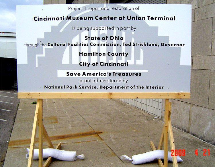 Cincinnati Museum Center Construction Sign