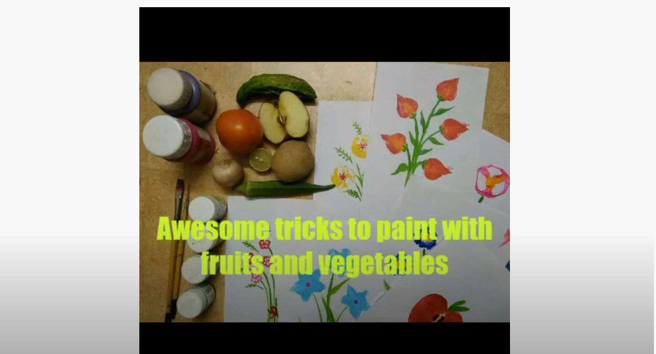 Paint With Fruits & Veggies