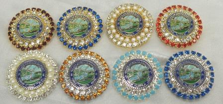 SD State Seal Jeweled Broach
