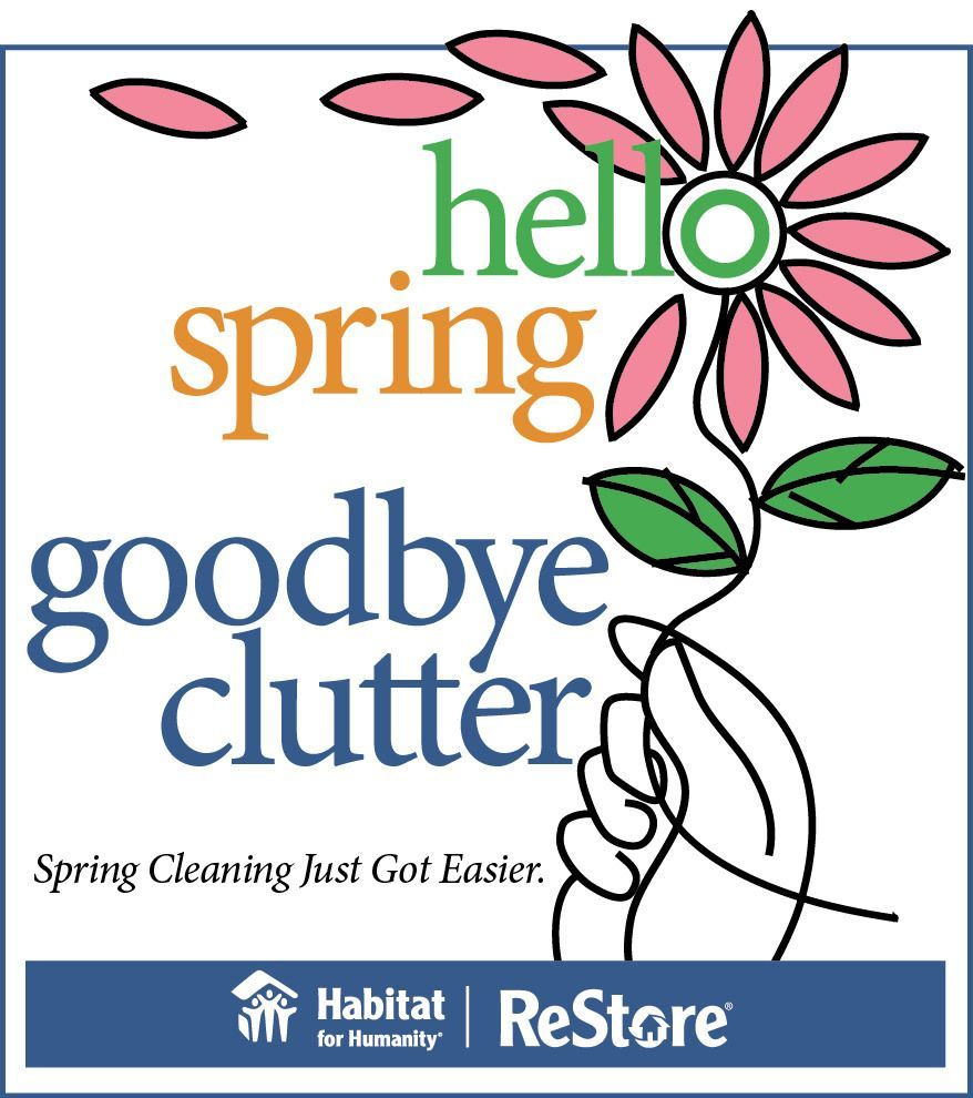 Hello Spring. Goodbye Clutter.