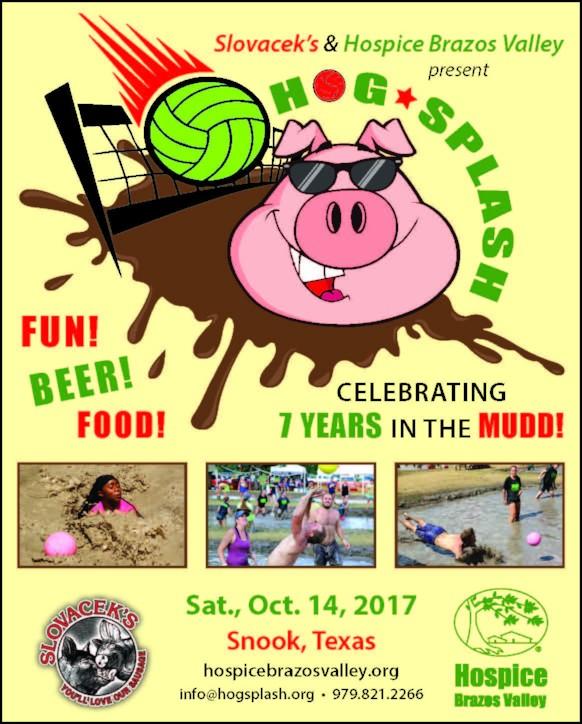 Hog Splash 2017 sponsored by Slovacek's and Hospice Brazos Valley